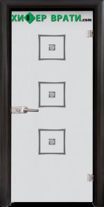 Стъклена интериорна врата модел Sand G 14-3, каса Венге