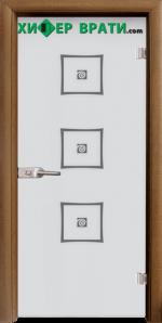 Стъклена интериорна врата модел Sand G 14-3, каса Златен дъб