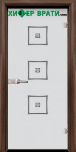 Стъклена интериорна врата модел Sand G 14-3, каса Орех