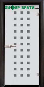 Стъклена интериорна врата модел Sand G 14-4, каса Венге