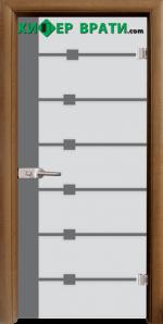Стъклена интериорна врата модел Sand G 14-5, каса Златен дъб
