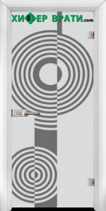 Стъклена интериорна врата модел Sand G 14-6, каса Бяла
