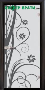Стъклена интериорна врата модел Sand G 14-7, каса Венге