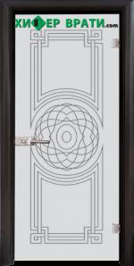 Стъклена интериорна врата модел Sand G 14-8, каса Венге