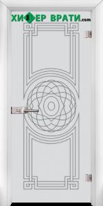 Стъклена интериорна врата модел Sand G 14-8, каса Бяла