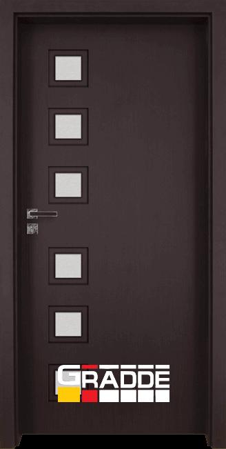 Интериорна врата модел Gradde Reichsburg, цвят Орех Рибейра