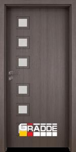 Интериорна врата модел Gradde Reichsburg, цвят Череша Сан Диего