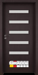 Интериорна врата модел Gradde Schwerin, цвят Орех Рибейра