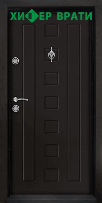 Блиндирана входна врата модел Т-712, цвят Африка