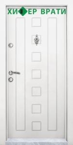 Блиндирана входна врата модел Т-712, цвят Бял