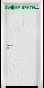 Интериорна врата модел 033-P, цвят Бял