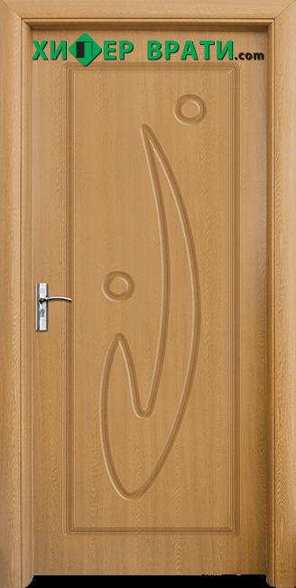Интериорна врата модел 070-P, цвят Светъл дъб