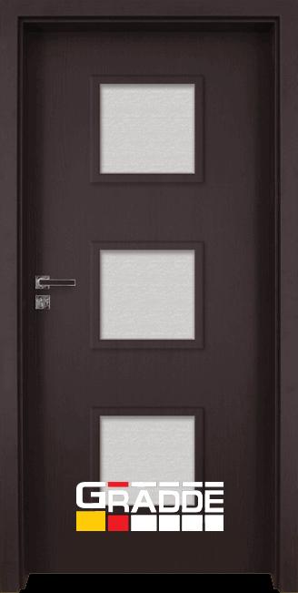 Интериорна врата модел Gradde Bergedorf, цвят Орех Рибейра