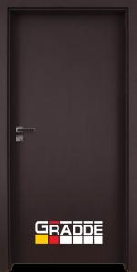 Интериорна врата модел Gradde Simpel, цвят Орех Рибейра