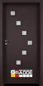 Интериорна врата модел Gradde Zwinger, цвят Орех Рибейра