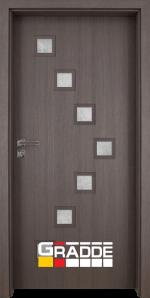 Интериорна врата модел Gradde Zwinger, цвят Череша Сан Диего