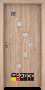 Интериорна врата модел Gradde Zwinger, цвят Дъб Вераде