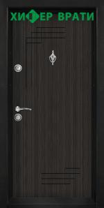 Блиндирана входна врата модел Т-111, цвят Черна перла