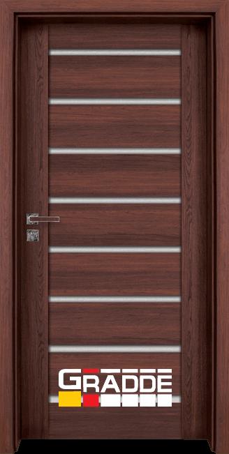 Интериорна врата Gradde Axel Glas, цвят Шведски Дъб