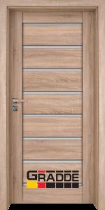 Интериорна врата Gradde Axel Glas, цвят Дъб Вераде