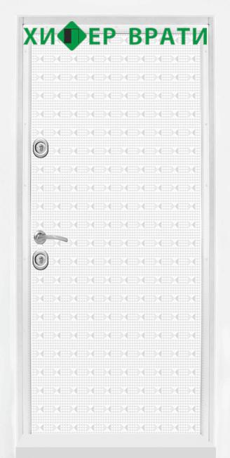 Блиндирана входна врата модел Т-777, цвят Бял гланц