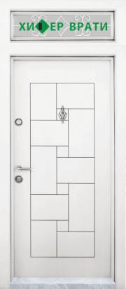 входна врата Т 100 Бялa