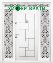 входна врата Т 100 цвят Бял