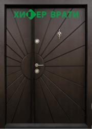 входна врата Т 109 цвят Тъмен орех
