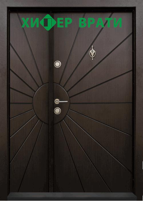 Еднокрила входна врата Т-109, цвят Тъмен орех