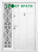 Еднокрила входна врата Т-598, цвят Бял