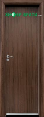 Алуминиева врата за баня – STANDART цвят Орех