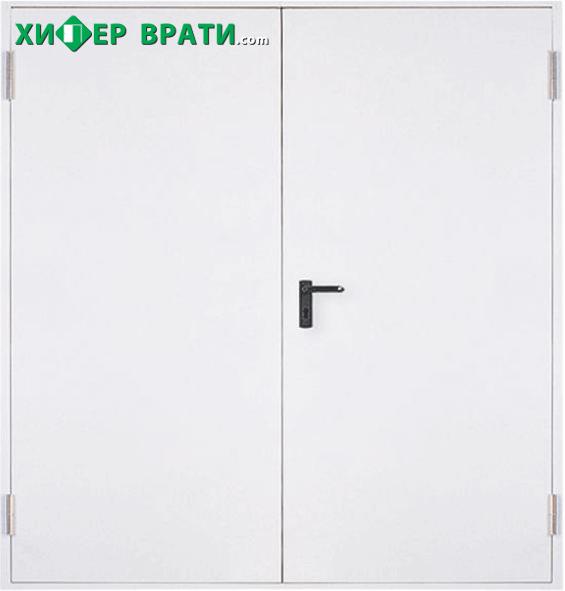 Метална пожароустойчива врата, REI 60 двукрила