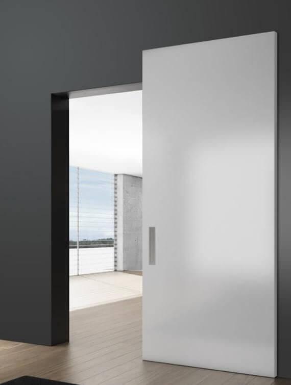 Бяла модерна интериорна врата за дома