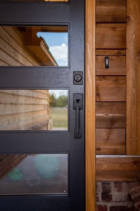 Модерна Входна врата със стъкло
