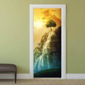 Интериорна врата със стъкло принт